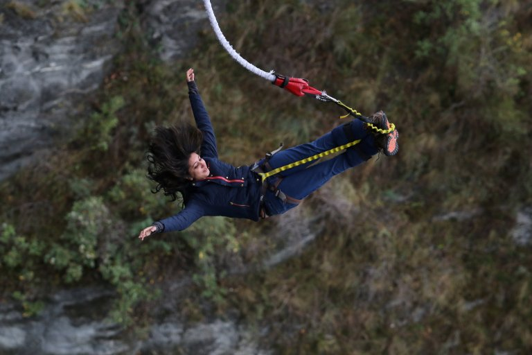 Bungy jumpimg at Kawarau Bridge